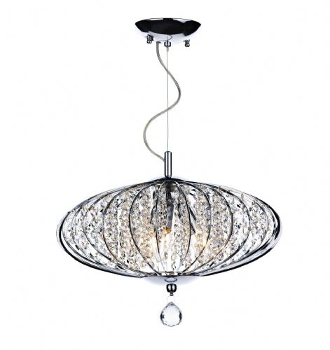 Adriatic 3-light Polished Chrome Decorative Crystal Pendant Ceiling Light ADR0350